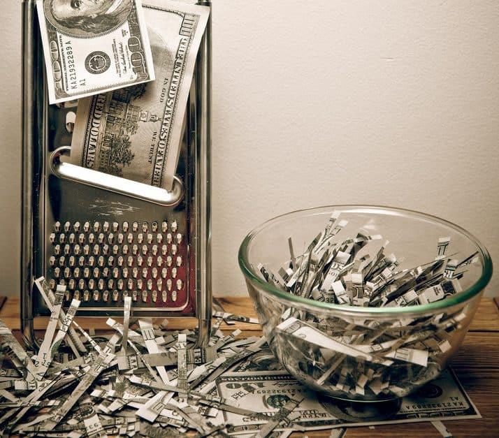 money thrown away